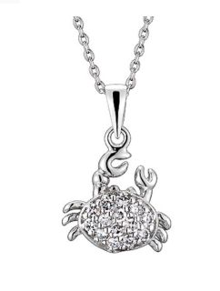 Brand new in box Sterling Silver crab pendant necklace