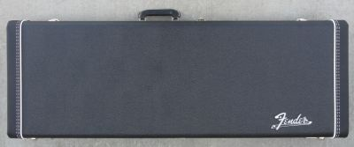 Fender Stratocaster/Telecaster Case - Black W/ Blue Poodle Interior & Big Amp Logo - NEW