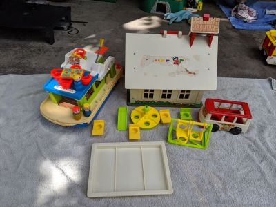 Vintage Fisher Price School and cruise ship