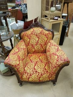 Awesome Antique Ornate Carved Victorian Wood Parlor Chair