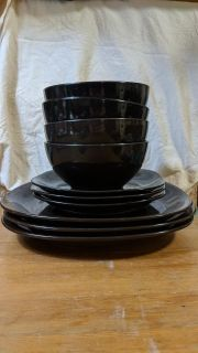 Bowls, side and dinner plates (hometrend dishes)