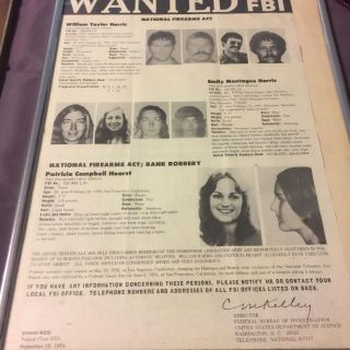 Patty Hearst wanted poster