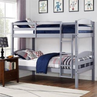 Gray Twin Over Twin Bunkbed