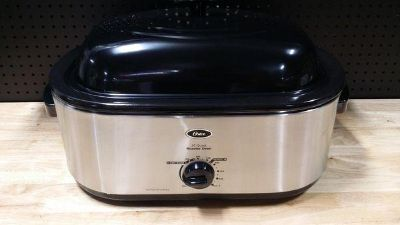 Oster Stainless Steel 20 Quart Self Basting Roaster Oven With Defrost Setting