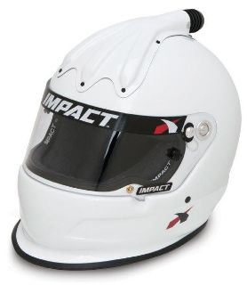 Purchase IMPACT RACING 17099509 SUPER CHARGER HELMET LARGE WHITE SA2010 motorcycle in Moline, Illinois, US, for US $539.99