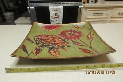 """Stunning Signed Work Of Art Platter - By """"Hope Smith"""""""