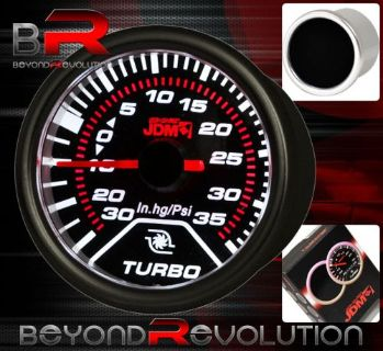 "Sell UNIVERSAL 2"" 52MM JDM TURBO BOOST METER GAUGE LED GLOW WITH ANALOG RED NEEDLE motorcycle in La Puente, California, United States, for US $22.50"