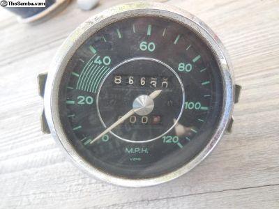 Porsche 356 Original VDO Speedometer