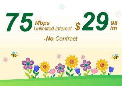 signup for Internet 75M Promotion
