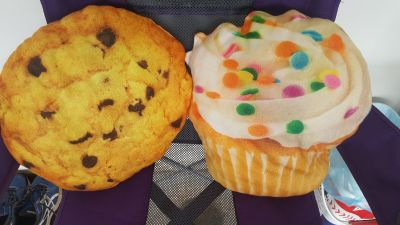 Cupcake and Cookie Throw Pillows