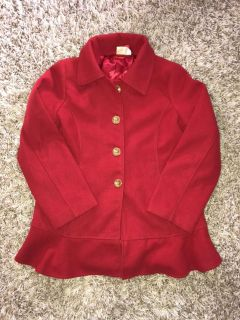 Girls Red Coat Size 16