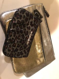 NEW!! VICTORIA SECRET 3 Piece Glittering Make-Up Bags Set