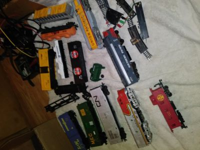 Train set (mixture of trains, plus track)