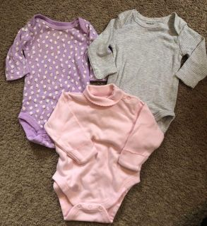 Carters and BabyGap onesies- 3 months