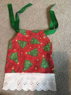 Christmas dress for American Girl sized doll