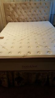Queen size mattress, box springs & metal frame like New!!