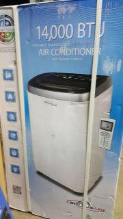 Open box 14000 btu portable air conditioner with heat pump 115V