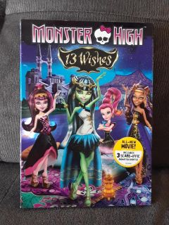 Monster High DVD 13 Wishes