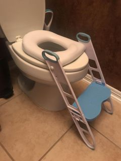 Potty seat with step