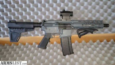 For Sale: AR-15 223/556 Aero Precision pistol with CNC 4lb trgger