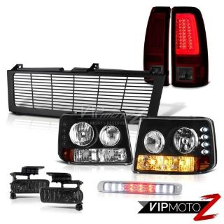 Find 99 00 01 02 Silverado 4.3L Tail Lights Billet Style Grille 3rd Brake Light Fog motorcycle in Walnut, California, United States, for US $398.54