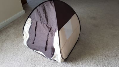 "14"" foldable small pet bed/tent"