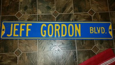 Jeff Gordon Metal Sign