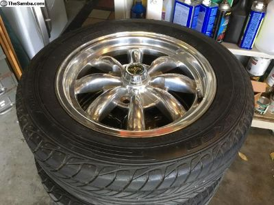 15 inch VW beetle alloy wheels & tires, exc!