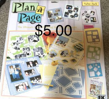 Plan a page scrapbooking tool
