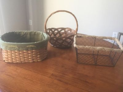 3 Baskets. Can be Sold together or separately.