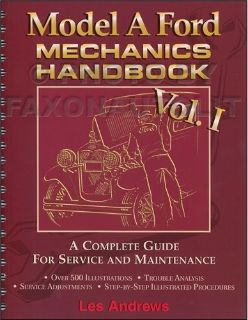 Sell 1928-1931 Model A Ford Mechanics Handbook volume 1 NEW Complete Guide Service motorcycle in Riverside, California, United States, for US $39.00