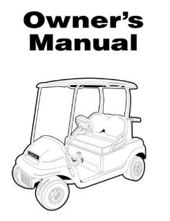 Buy ANY CLUB CAR Owners Manual precedent ds turf carryall XRT DS Pioneer motorcycle in Thomasville, Georgia, United States, for US $5.55