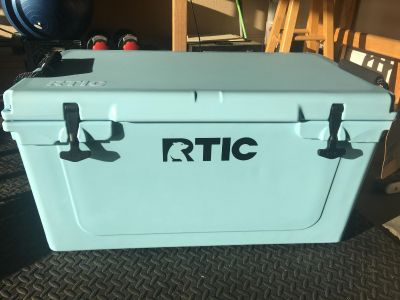 RTIC 65 cooler. Brand new, never been used (won in raffle)