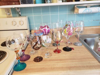 Eclectic wine glass collection