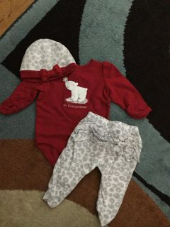 GUC Gymboree My 1st Xmas Outfit