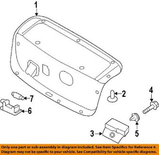 Find HYUNDAI OEM 817523Q000RY Trunk Lid-Trunk Lid Trim motorcycle in Downers Grove, Illinois, US, for US $98.09