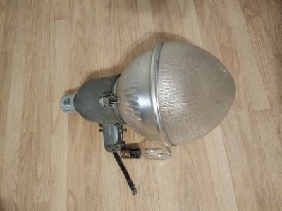 Security light with glass globe