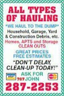 Hauling Service, Junk Removal
