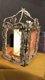 Rustic picture frame shade