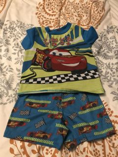 Cars the movie pjs size 5t