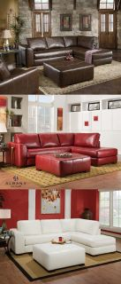 $739, C275-61 Bonded Leather Sectional Sofa wChaise End 4 Colors