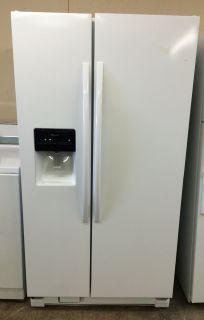 Amana 25cu.ft Side by Side Refrigerator in White