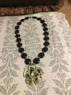 Beautiful Lg Glass Pendent Necklace - Swap Only