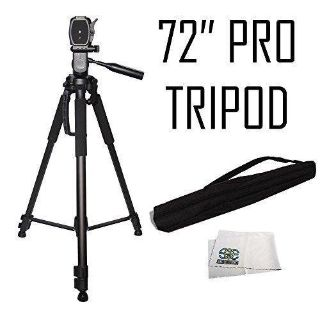 Professional 72-inch Tripod 3-way Panhead Tilt Motion with Built In Bubble Level