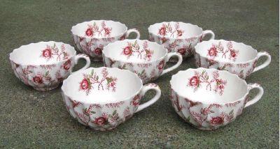 * ~ ~ ~ Copeland ~ Spode ~ England ~ Rosebud ~ Chintz ~ Cups ~ ~ ~ *