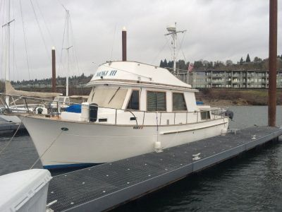 34Ft 1981 CHB Tri Cabin Trawler ready to be christened