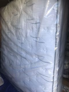 Mattress is Used - King Size- Serta Perfect Sleeper Woodbriar II Cushion Firm Eurotop King Mattress With Box Springs