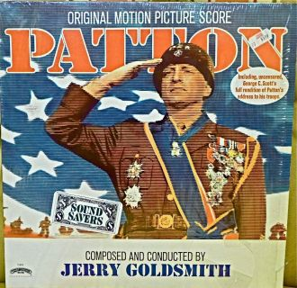 PATTON SOUNDTRACK LP NM US JERRY GOLDSMITH MOVIE SCORE 1970