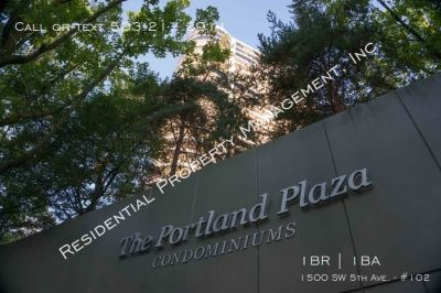 Coveted Portland Plaza Luxury 1 Bedroom Condo located in the Heart of Downtown Portland!