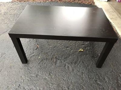 Black coffee table . Great for college or basement